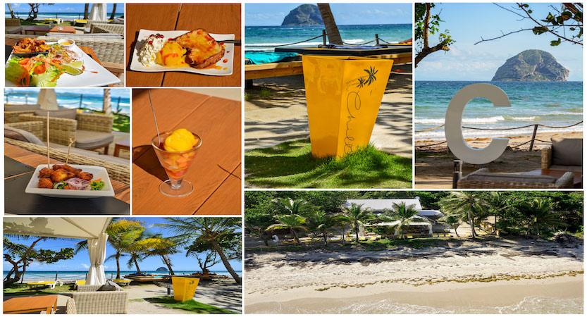 Restaurant Chill, sur la plage du Diamant