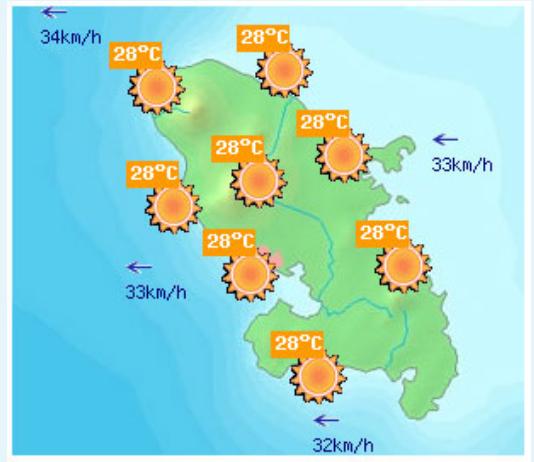 La météo pour vos vacances en Martinique