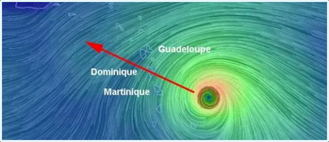 Image Cyclone Maria en Martinique