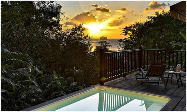 Location Babord Anses d'Arlet vue mer piscine