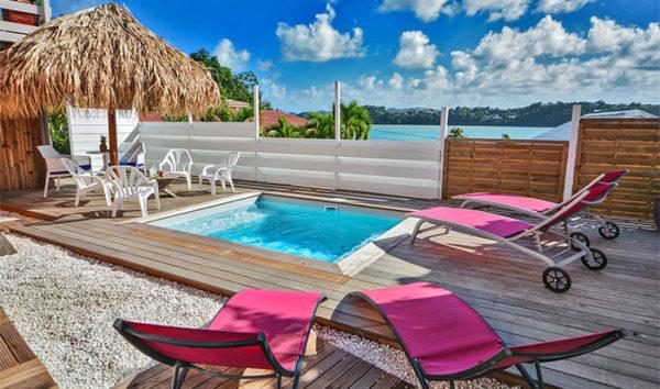 location T3 piscine vue mer La Trinité Martinique Kay Telline