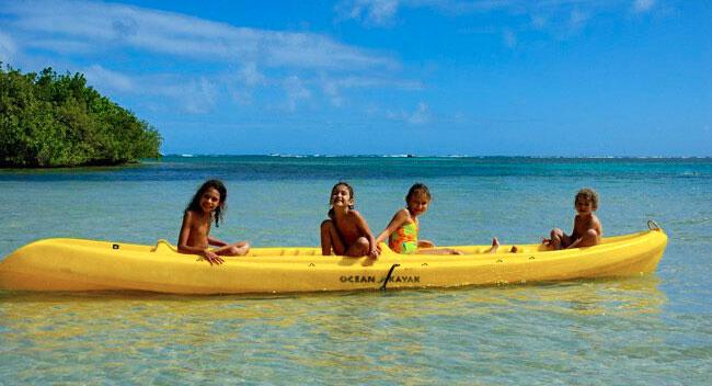 Kayak en famille Martinique