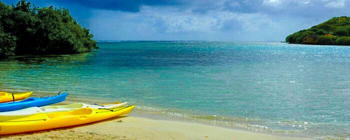 Kayaks sur les ilets du Robert en Martinique
