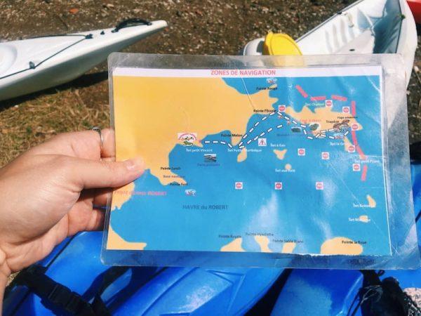 Parcours Kayaks ilet du Robert Martinique