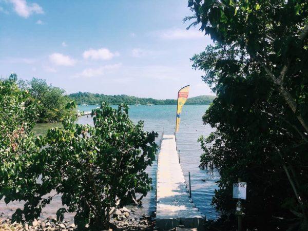 Le depart pour les ilets Kayak Martinique