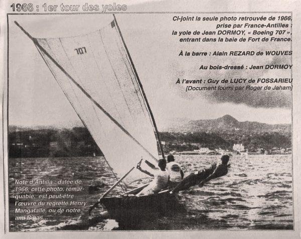 Le premier tour de Yole de Martinique 1966