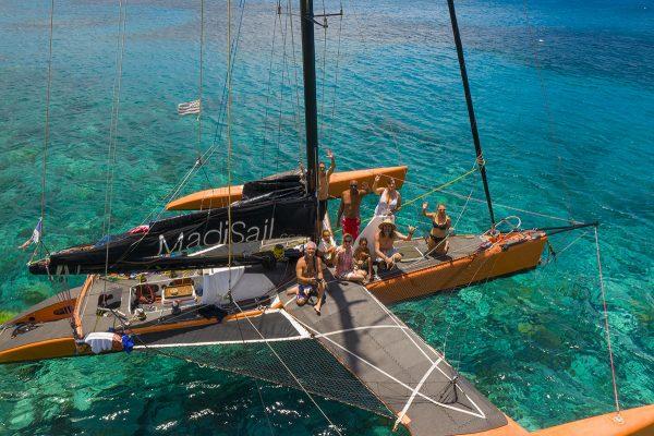 apero en mer voilier martinique Madisail